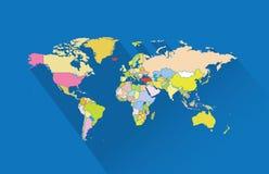 Παγκόσμιες χάρτης-χώρες στοκ εικόνες