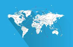 Παγκόσμιες χάρτης-χώρες στοκ φωτογραφία με δικαίωμα ελεύθερης χρήσης