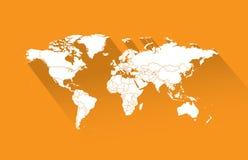 Παγκόσμιες χάρτης-χώρες στοκ εικόνα