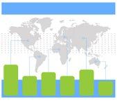 Παγκόσμιοι χάρτες Infographics των άσπρων γαλαζοπράσινων εικονιδίων γραφικ απεικόνιση αποθεμάτων