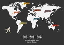 Παγκόσμιοι χάρτης και αεροπλάνο Στοκ φωτογραφία με δικαίωμα ελεύθερης χρήσης