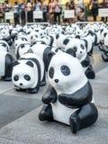 Παγκόσμιος γύρος 1.600 pandas στη Μπανγκόκ Στοκ Εικόνες