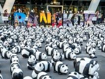 Παγκόσμιος γύρος 1.600 pandas στη Μπανγκόκ Στοκ εικόνα με δικαίωμα ελεύθερης χρήσης