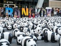 Παγκόσμιος γύρος 1.600 pandas στη Μπανγκόκ Στοκ Φωτογραφίες