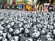 Παγκόσμιος γύρος 1.600 pandas στη Μπανγκόκ Στοκ Εικόνα