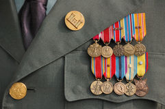 Παγκόσμιος πόλεμος δύο μετάλλια Στοκ φωτογραφίες με δικαίωμα ελεύθερης χρήσης