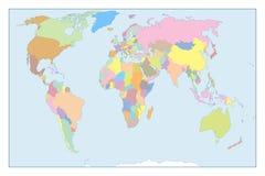 Παγκόσμιος χάρτης λεπτομέρειας Στοκ εικόνα με δικαίωμα ελεύθερης χρήσης