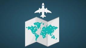 Παγκόσμιος χάρτης και καθορισμός προορισμών HD διανυσματική απεικόνιση
