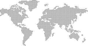 Παγκόσμιος χάρτης με το μαύρο σημείο Στοκ Εικόνες