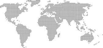 Παγκόσμιος χάρτης με το σημείο Στοκ Εικόνα