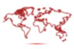 Παγκόσμιος χάρτης νέου διανυσματική απεικόνιση