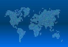 Παγκόσμιος χάρτης που αποτελείται από τα αστέρια σε ένα μπλε υπόβαθρο Στοκ Εικόνες