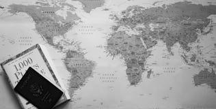 Παγκόσμιος χάρτης σε γραπτό Στοκ εικόνα με δικαίωμα ελεύθερης χρήσης