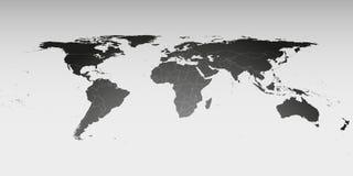 Παγκόσμιος χάρτης στην προοπτική, διανυσματικό πρότυπο για Στοκ φωτογραφίες με δικαίωμα ελεύθερης χρήσης