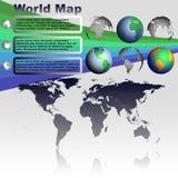 Παγκόσμιος χάρτης στο γκρίζο διάνυσμα υποβάθρου Στοκ φωτογραφία με δικαίωμα ελεύθερης χρήσης