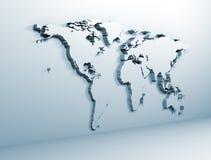 Παγκόσμιος χάρτης στο μέταλλο Στοκ Φωτογραφία