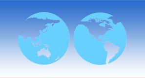 Παγκόσμιος χάρτης σφαιρών Στοκ Εικόνες