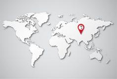 Παγκόσμιος χάρτης υποβάθρου τρισδιάστατος Στοκ φωτογραφία με δικαίωμα ελεύθερης χρήσης