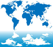 Παγκόσμιος χάρτης Στοκ φωτογραφία με δικαίωμα ελεύθερης χρήσης