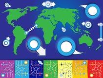 Παγκόσμιος χάρτης Στοκ εικόνα με δικαίωμα ελεύθερης χρήσης