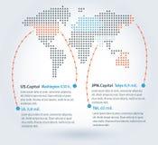 Παγκόσμιος χάρτης Infographic διανυσματική απεικόνιση