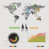 Παγκόσμιος χάρτης infographic Στοκ εικόνα με δικαίωμα ελεύθερης χρήσης