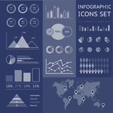 Παγκόσμιος χάρτης infographic Στοκ Φωτογραφία
