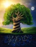 Παγκόσμιο δέντρο ελεύθερη απεικόνιση δικαιώματος