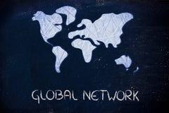 Παγκόσμιο δίκτυο, επιχείρηση στο σύγχρονο συνδεδεμένο κόσμο στοκ φωτογραφίες