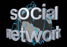 παγκόσμιο δίκτυο κοινωνικό Στοκ Φωτογραφία
