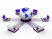 παγκόσμιο δίκτυο υπολ&omicron Στοκ Εικόνα
