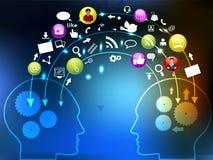 παγκόσμιο δίκτυο επικοινωνίας κοινωνικό Στοκ Εικόνες