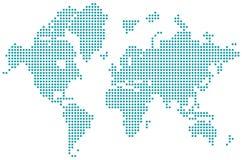 Παγκόσμιο διαστιγμένο χάρτης απομονωμένο διάνυσμα ελεύθερη απεικόνιση δικαιώματος