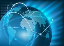 Παγκόσμιο επιχειρηματικό πεδίο Διαδικτύου ελεύθερη απεικόνιση δικαιώματος