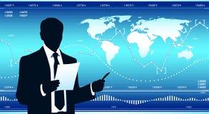 Παγκόσμιο επιχειρηματικό πεδίο ελεύθερη απεικόνιση δικαιώματος