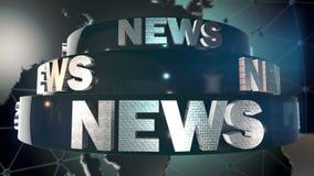 Παγκόσμιο δελτίο ειδήσεων απόθεμα βίντεο