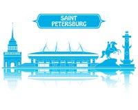 Παγκόσμιο Κύπελλο 2018 Αγίου Πετρούπολη απεικόνιση αποθεμάτων