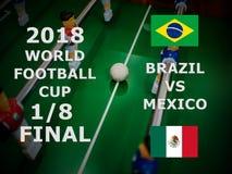 Παγκόσμιο Κύπελλο Ρωσία 2018, αγώνας της FIFA ποδοσφαίρου πρωτάθλημα τελικός Ένας όγδοος του φλυτζανιού Αντιστοιχία Βραζιλία ΕΝΑΝ στοκ εικόνα