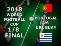 Παγκόσμιο Κύπελλο Ρωσία 2018, αγώνας της FIFA ποδοσφαίρου πρωτάθλημα τελικός Ένας όγδοος του φλυτζανιού Αντιστοιχία Πορτογαλία εν στοκ φωτογραφία με δικαίωμα ελεύθερης χρήσης
