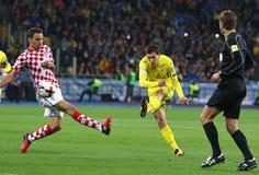 Παγκόσμιο Κύπελλο 2018 της FIFA που είναι κατάλληλο: Ουκρανία β Κροατία στοκ φωτογραφίες με δικαίωμα ελεύθερης χρήσης