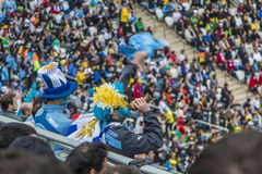Παγκόσμιο Κύπελλο Βραζιλία 2014 - Αγγλία της Ουρουγουάης 2 X 1 Στοκ Εικόνες