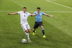 Παγκόσμιο Κύπελλο Βραζιλία 2014 - Αγγλία της Ουρουγουάης 2 X 1 Στοκ φωτογραφία με δικαίωμα ελεύθερης χρήσης