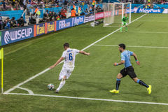 Παγκόσμιο Κύπελλο Βραζιλία 2014 - Αγγλία της Ουρουγουάης 2 X 1 Στοκ Εικόνα
