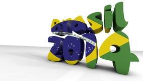 Παγκόσμιο Κύπελλο Βραζιλία. τρισδιάστατος δώστε Στοκ Εικόνες