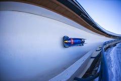Παγκόσμιο Κύπελλο Κάλγκαρι Καναδάς 2014 Bobsleigh Στοκ εικόνα με δικαίωμα ελεύθερης χρήσης
