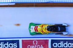 Παγκόσμιο Κύπελλο Κάλγκαρι Καναδάς 2014 Bobsleigh Στοκ εικόνες με δικαίωμα ελεύθερης χρήσης