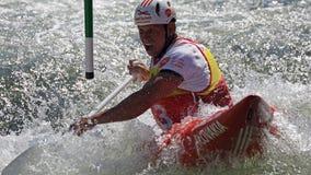 Παγκόσμιο Κύπελλο κανό slalom ICF - Michal Martikan (Σλοβακία) Στοκ Φωτογραφία