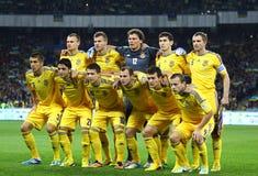 Παγκόσμιο Κύπελλο 2014 παιχνίδι Ουκρανία β της FIFA χαρακτηριστή Αγγλία Στοκ Εικόνα