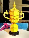 Παγκόσμιο Κύπελλο ράγκμπι σε Lego Στοκ Φωτογραφίες