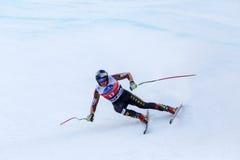 Παγκόσμιο Κύπελλο Bormio 2013 Fis θέσεων του Erik Guay τρίτο Στοκ Εικόνες
